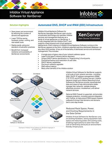 Infoblox Virtual Appliance Software For XenServer