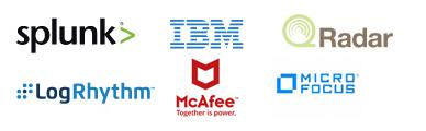 Splunk | IBM | QRadar | LogRhythm | McAfee | MicroFocus
