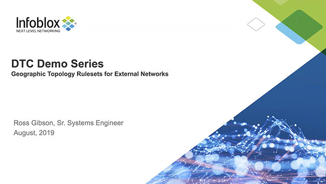 DNS Traffic Control (DTC): Geo-Topology Rulesets For External Networks