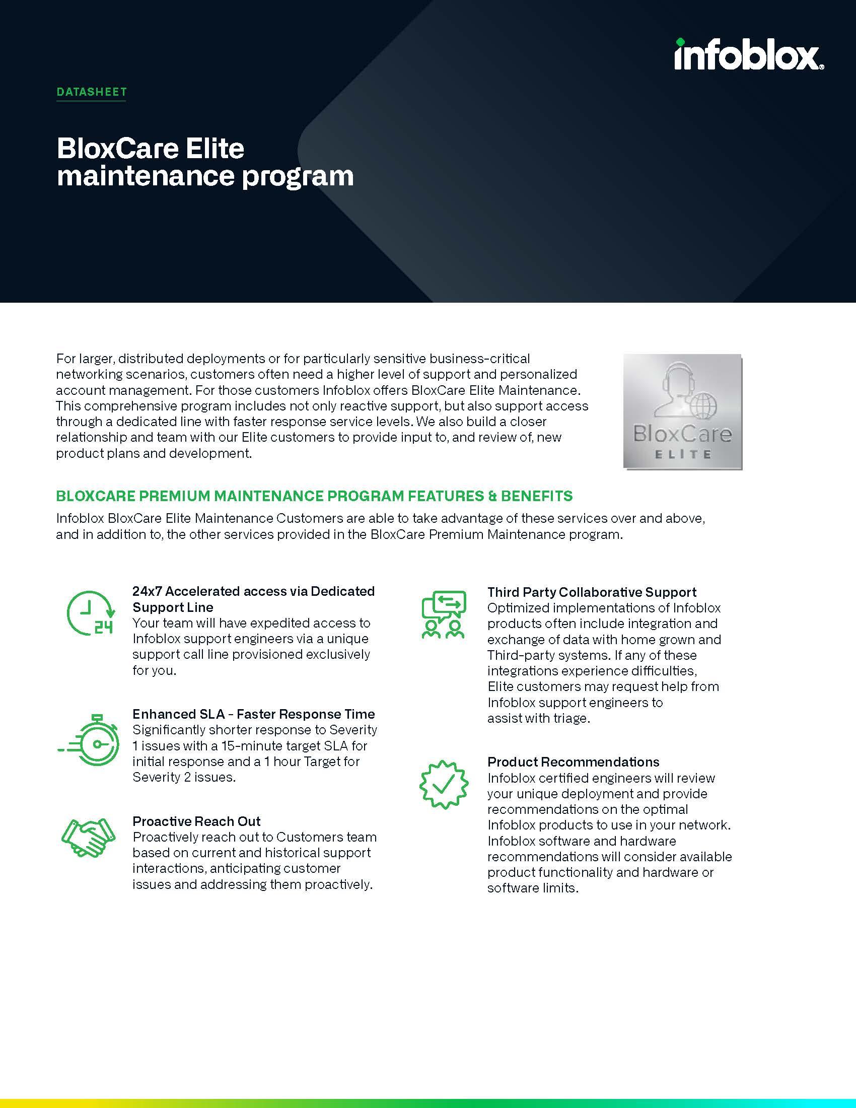 BloxCare Elite Maintenance Program