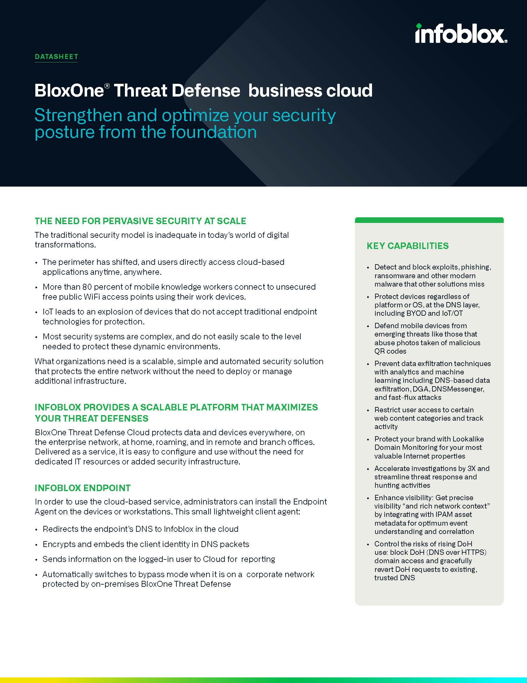 BloxOne®️ Threat Defense Business Cloud