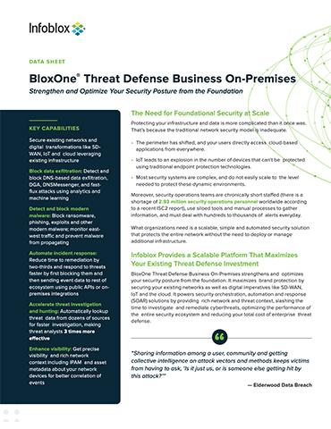 BloxOne®️ Threat Defense Business On–Premises