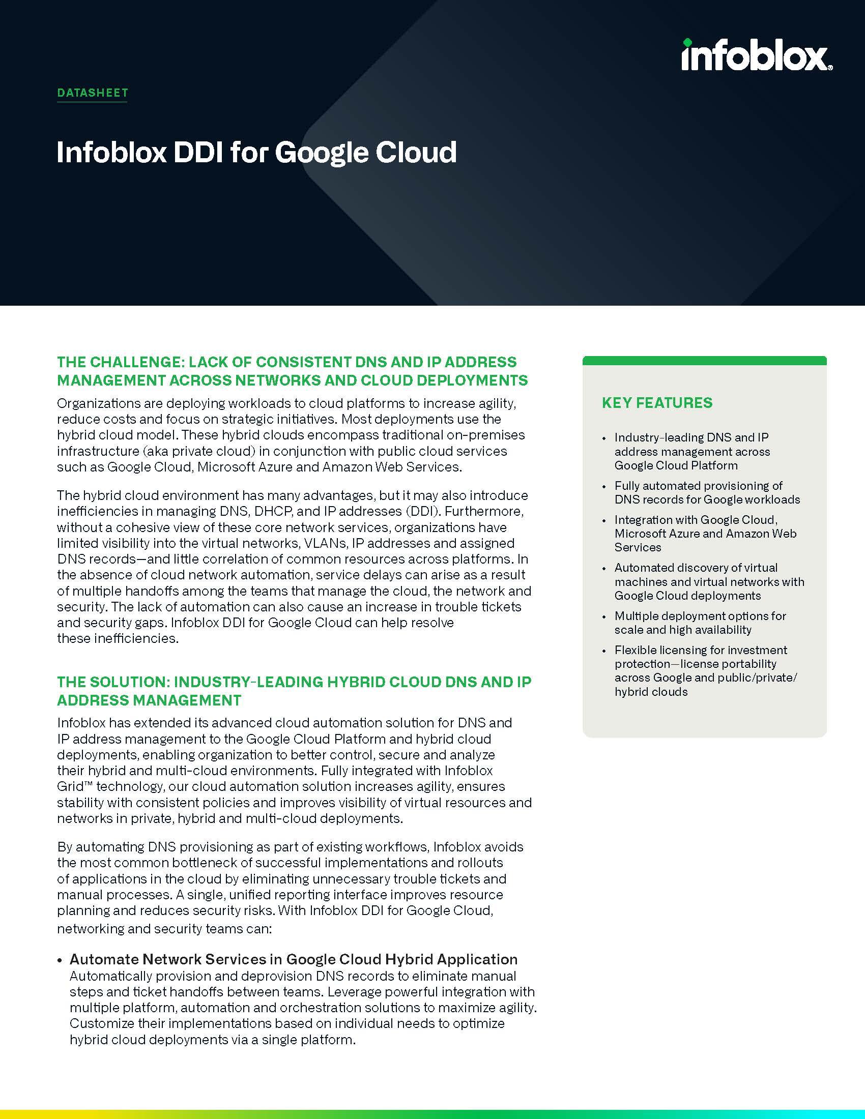 DDI For Google Cloud