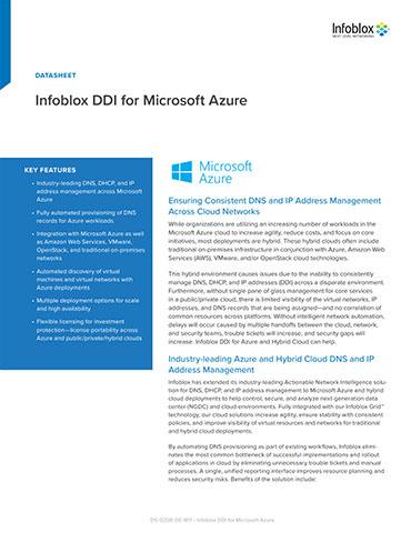 Infoblox DDI For Microsoft Azure