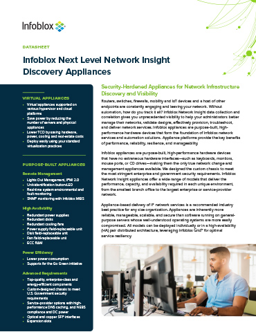 Infoblox Next Level Network Insight Discovery Appliances