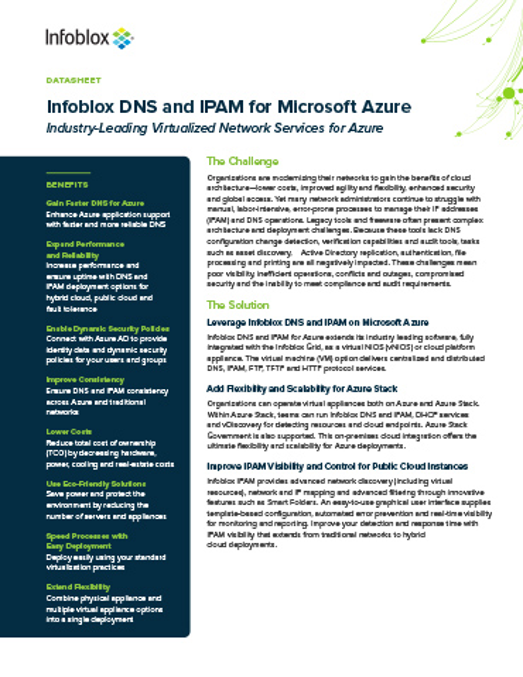 Infoblox Virtual Appliance Software For Microsoft Azure