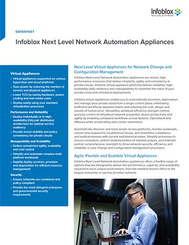 Infoblox Next Level Network Automation Appliances