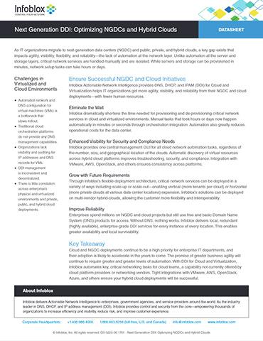 Enterprise-grade DDI: Optimizing NGDCs And Hybrid Clouds