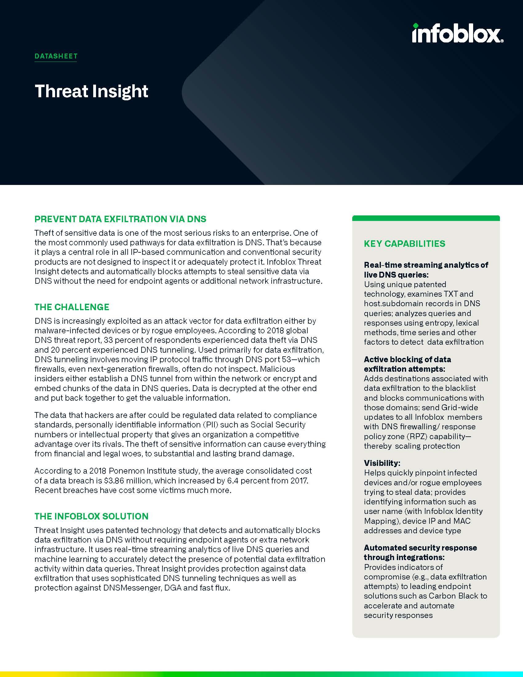 Infoblox Threat Insight
