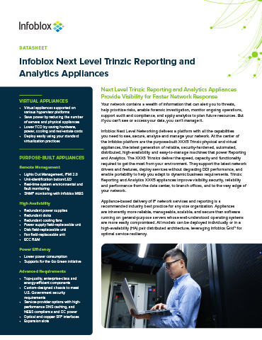 Infoblox Next Level Trinzic Reporting And Analytics Appliances