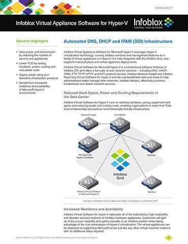 Trinzic Virtual Appliance Software For Hyper-V