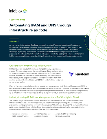 Automating IPAM And DNS Through Infrastructure As Code