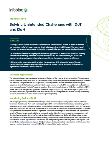 Solving Unintended Challenges With DoT And DoH