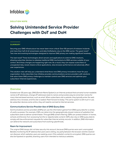 Solving Unintended Service Provider Challenges With DoT And DoH