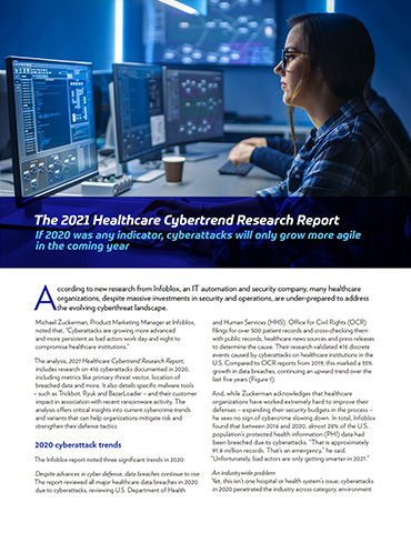 Infoblox-2021 Healthcare Cybertrend Research Report