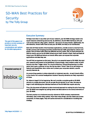 SD-WAN Best Practices For Security
