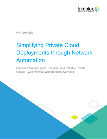 Simplifying Private Cloud Deployments Through Network Automation