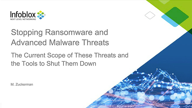 Stopping Ransomware And Advanced Malware Threats